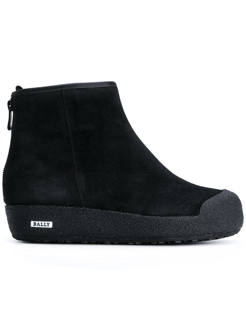 Bally Guard Suede Ankle Boots In Black