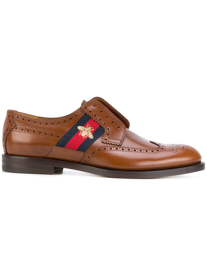 Gucci Brogues With Web