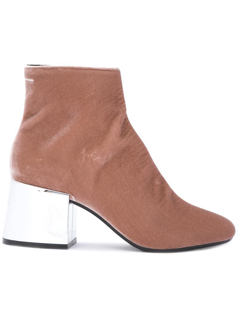 Mm6 Maison Margiela Mirrored Heeled Boots
