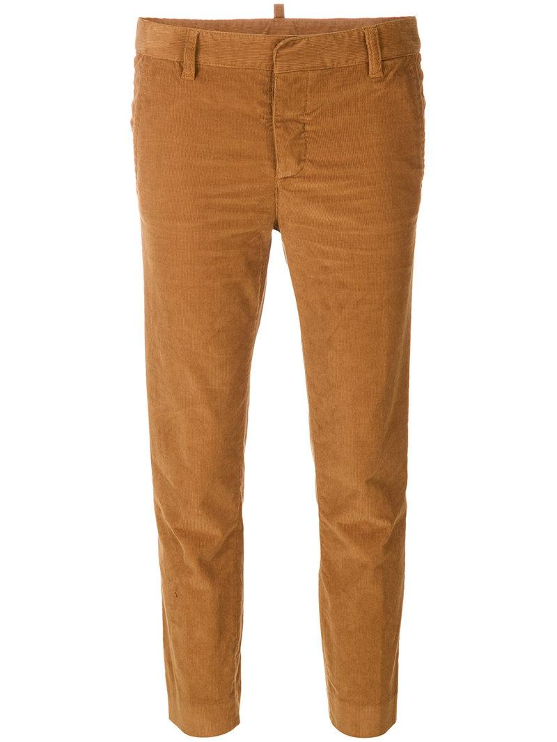 Dsquared2 Corduroy Pants In Brown