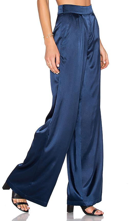 House Of Harlow 1960 X Revolve Charlie Wide Leg Pant In Blue. In Navy