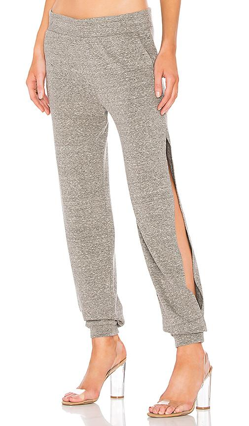 Lanston Side Slit Sweatpant In Gray