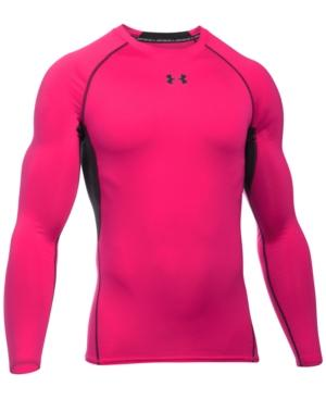 Under Armour Men's Heatgear Long-sleeve Compression Shirt In Pink