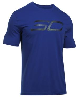 Under Armour Men's Steph Curry Logo Charged Cotton T-shirt In Royal