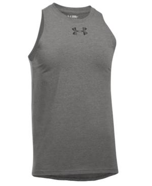 Under Armour Men's Baseline Charged Cotton Tank Top In Grey