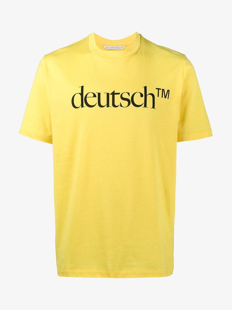 Johnlawrencesullivan John Lawrence Sullivan Deutsch T-shirt In Yellow&orange