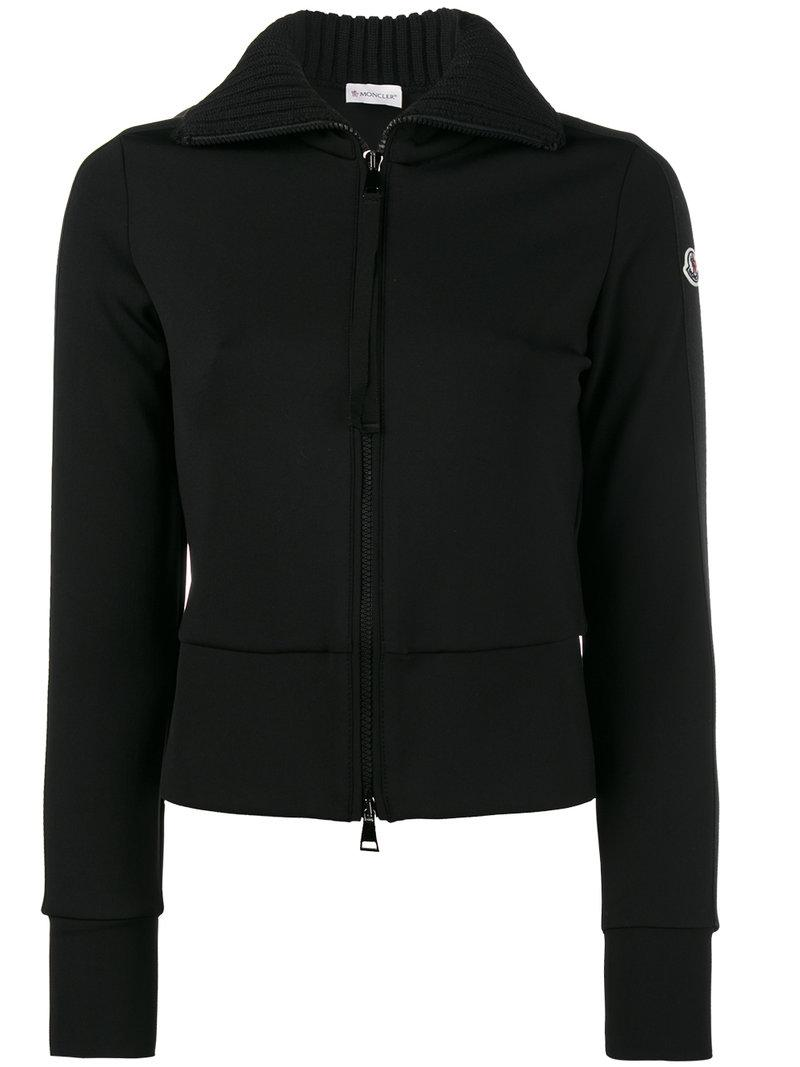 Moncler Tracksuit Top In Black