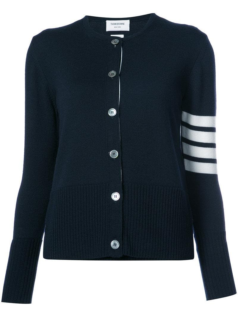 Thom Browne 2-in-1 Twin Set In Navy Fine Merino Wool In Blue