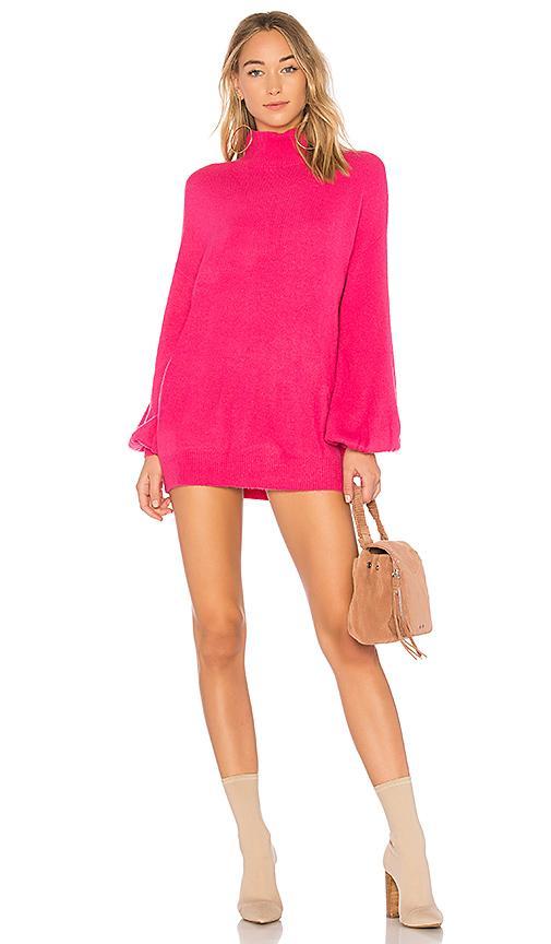 Lovers & Friends Lovers + Friends Blaine Sweater Dress In Pink.