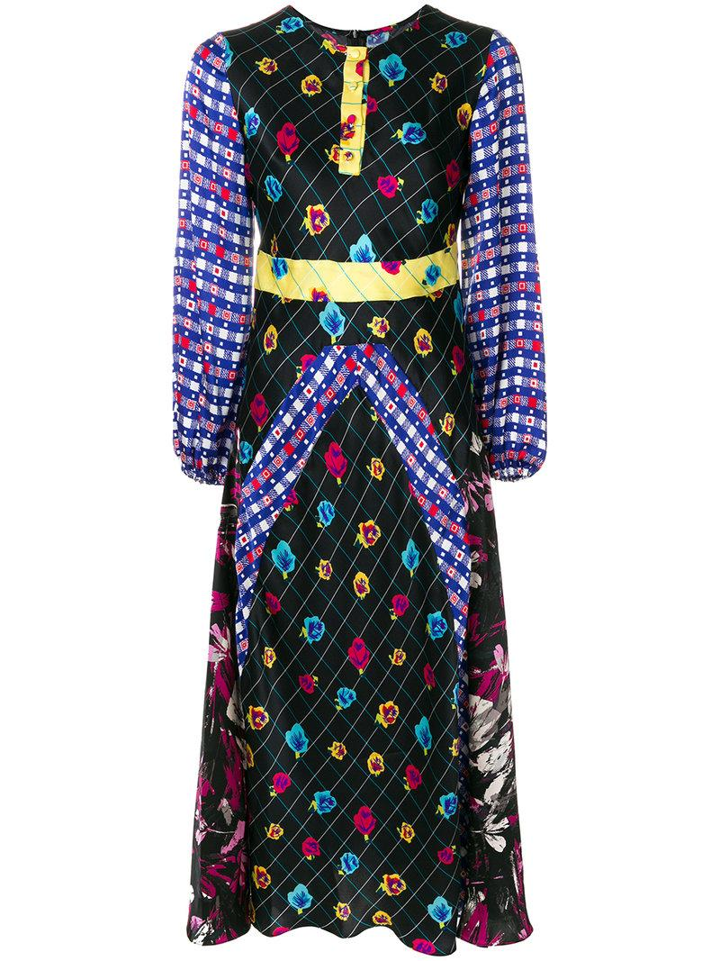 Duro Olowu Patterned Long Sleeved Dress