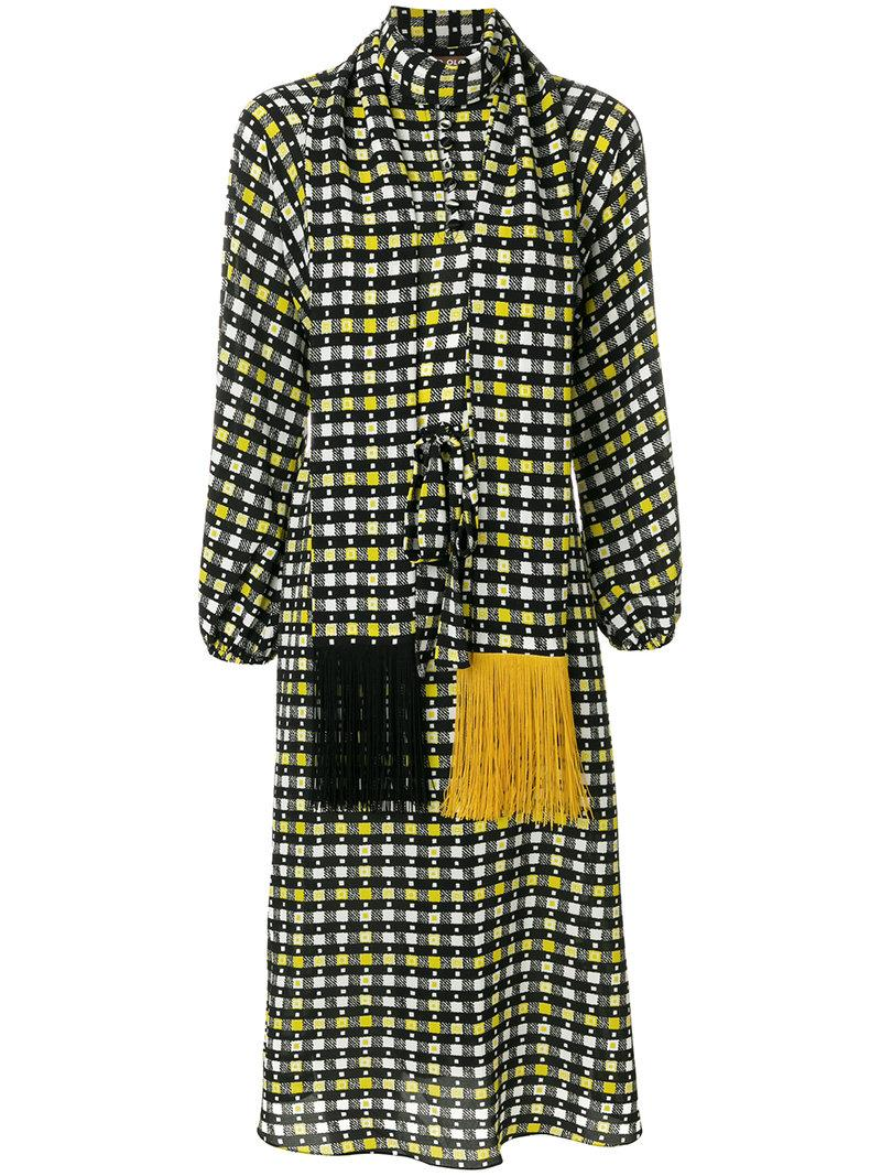 Duro Olowu Long Sleeved Midi Dress