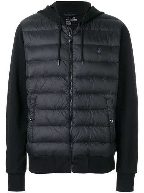 Polo Ralph Lauren Padded Front Jacket In Black