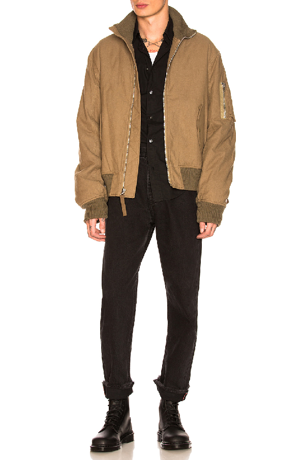 Helmut Lang Re-Edition High Collar Bomber In Army Green