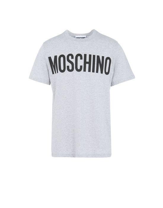 Moschino Logo-Print Cotton-Jersey T-Shirt In Grey