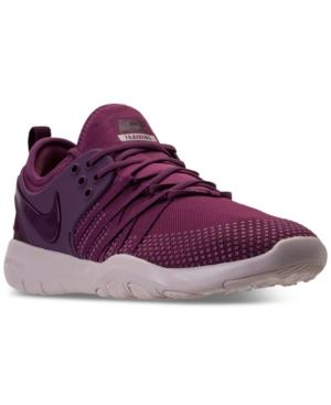 98775bc732e3f Nike Women s Free Tr 7 Training Sneakers From Finish Line In Black  Black   Dark