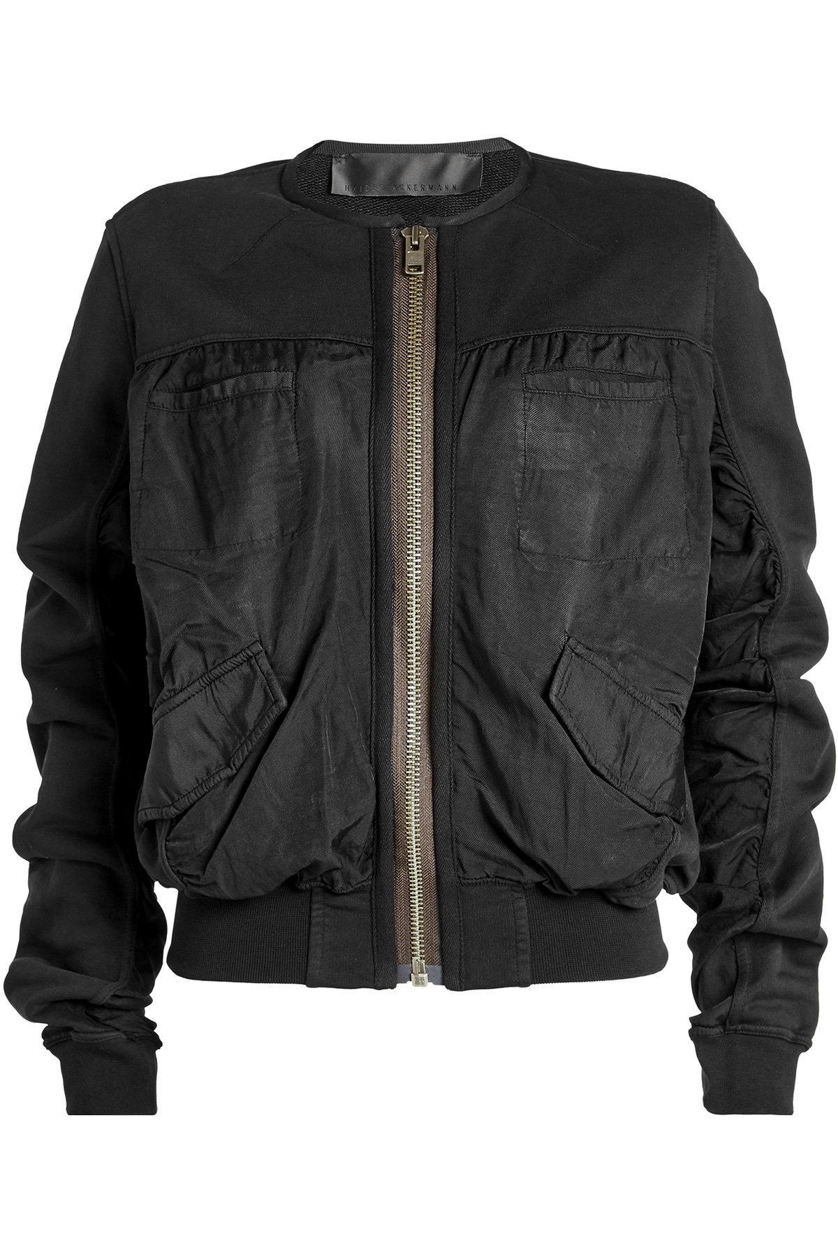 Haider Ackermann Cotton Bomber Jacket In Black