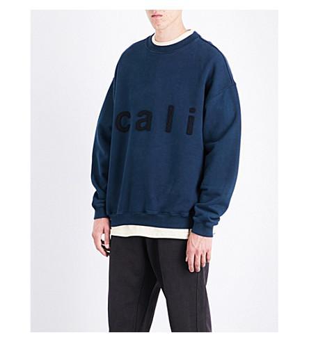 f120bcda2 Yeezy Season 5 Calabasas Cotton-Jersey Sweatshirt In Ink