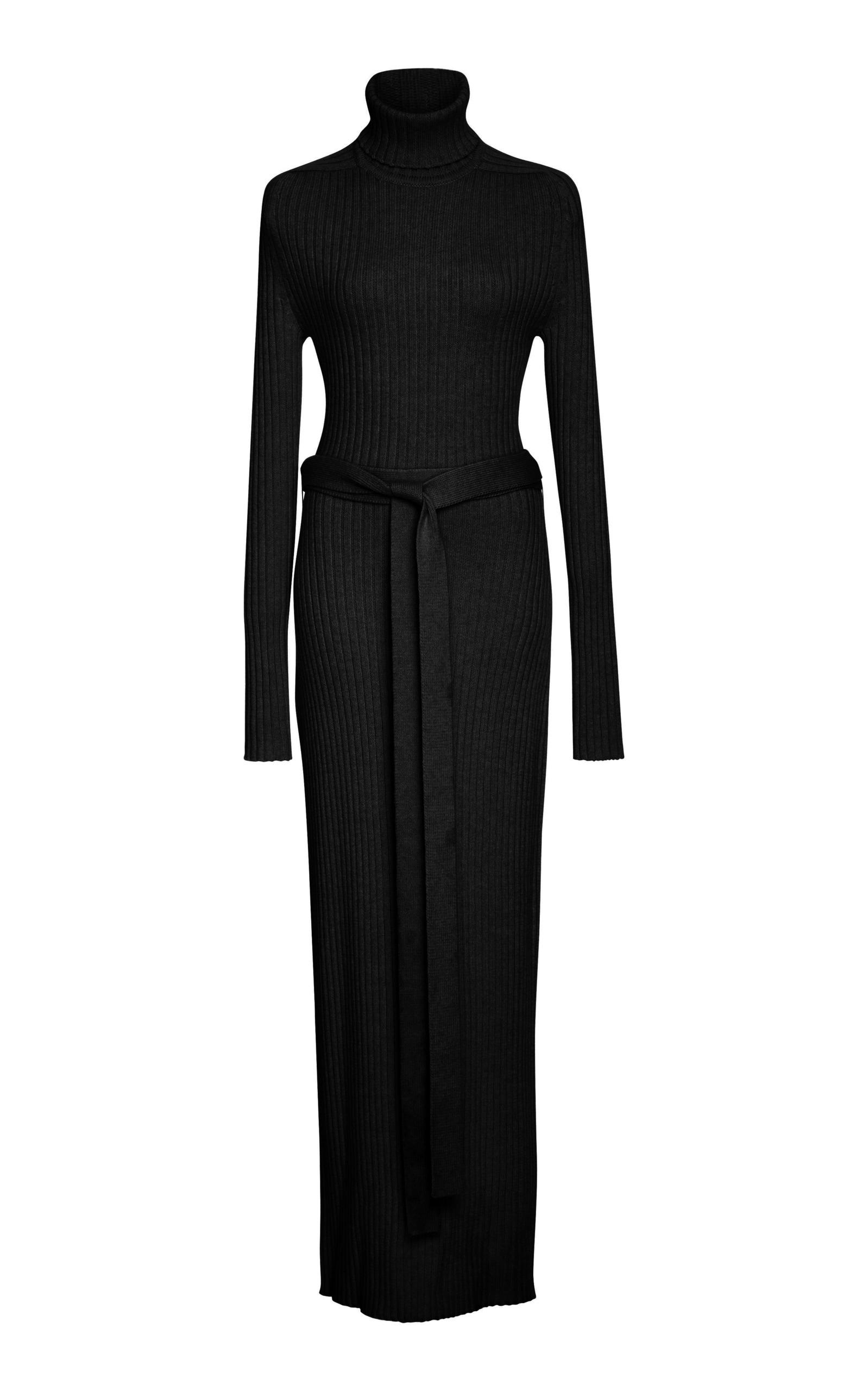 3e91d212eca1 Tome Long Sleeve Turtleneck Maxi Dress In Black   ModeSens