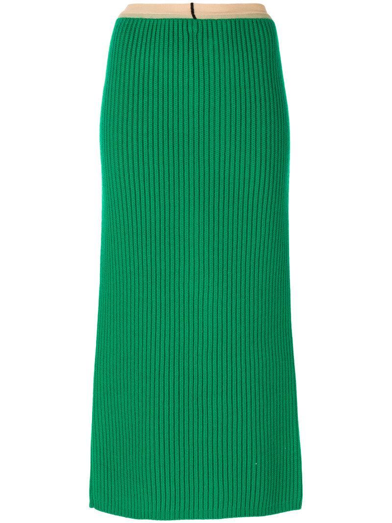Calvin Klein Ribbed Midi Skirt