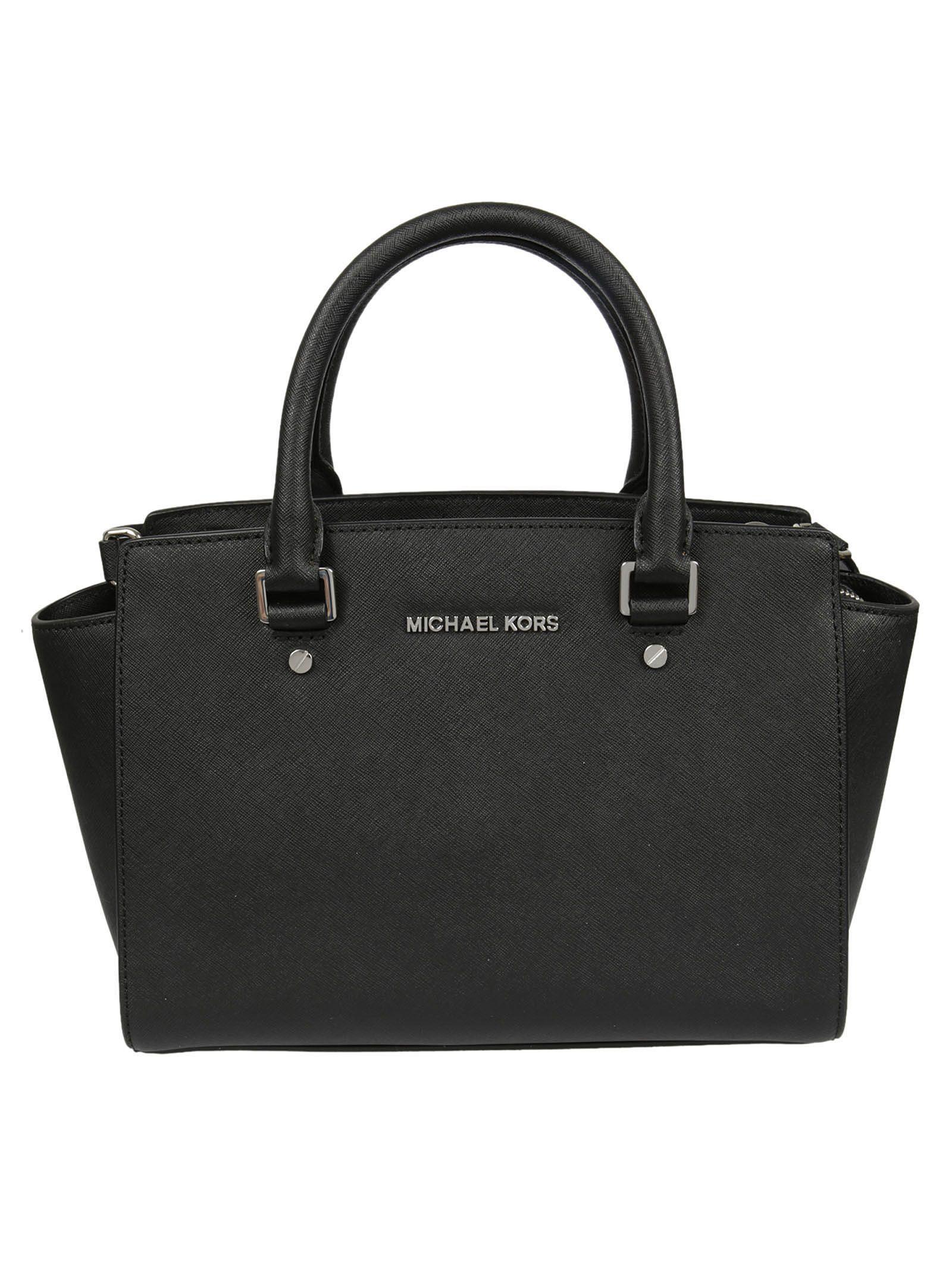 Michael Kors Selma Satchel Bag In Black