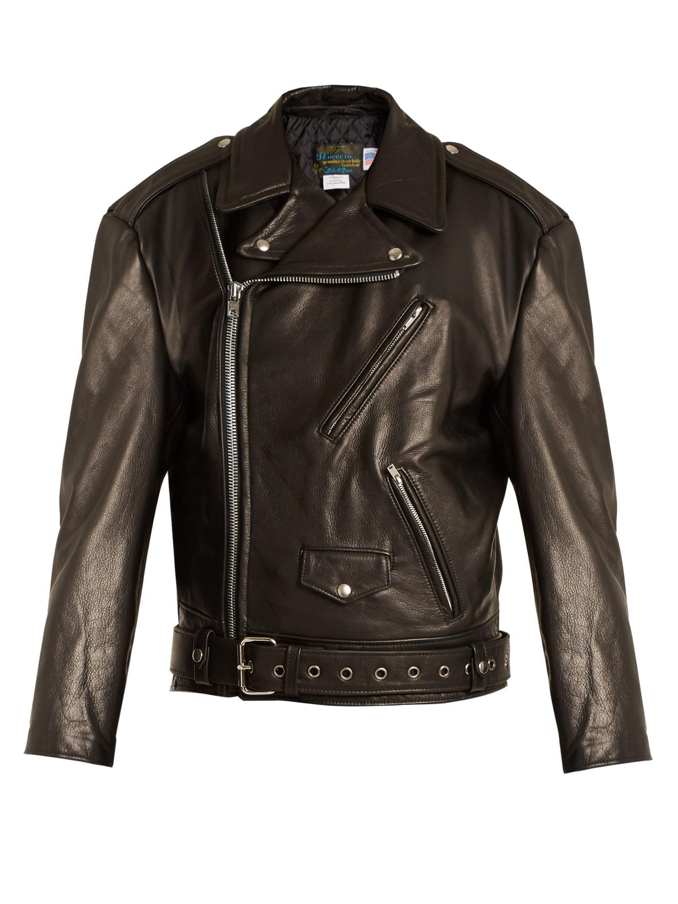 292b61258 X Schott Perfecto Oversized Leather Jacket in Black