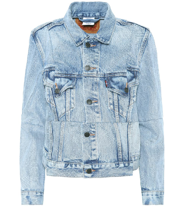 Vetements Blue Levi's Edition Reworked Denim Jacket