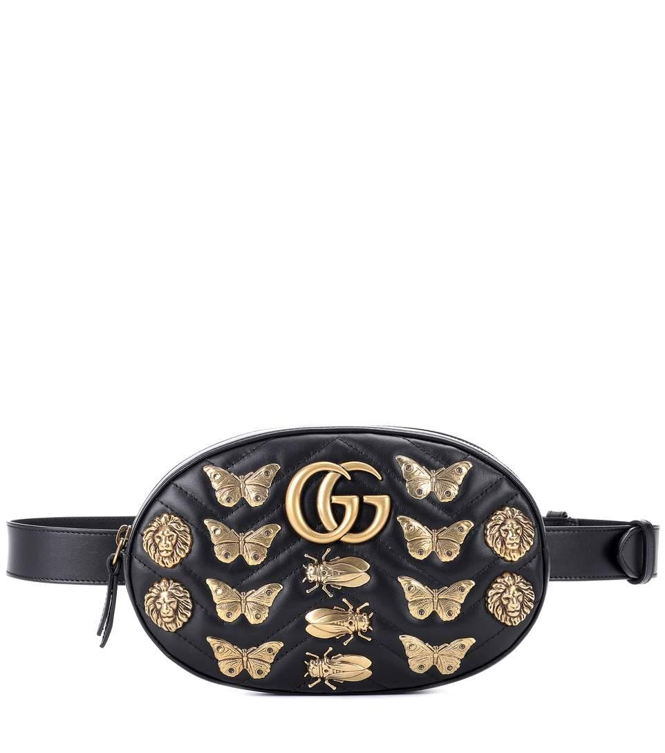 63a7f62e67901c Gucci Gg 2.0 Marmont Insect Belt Bag In Eero | ModeSens