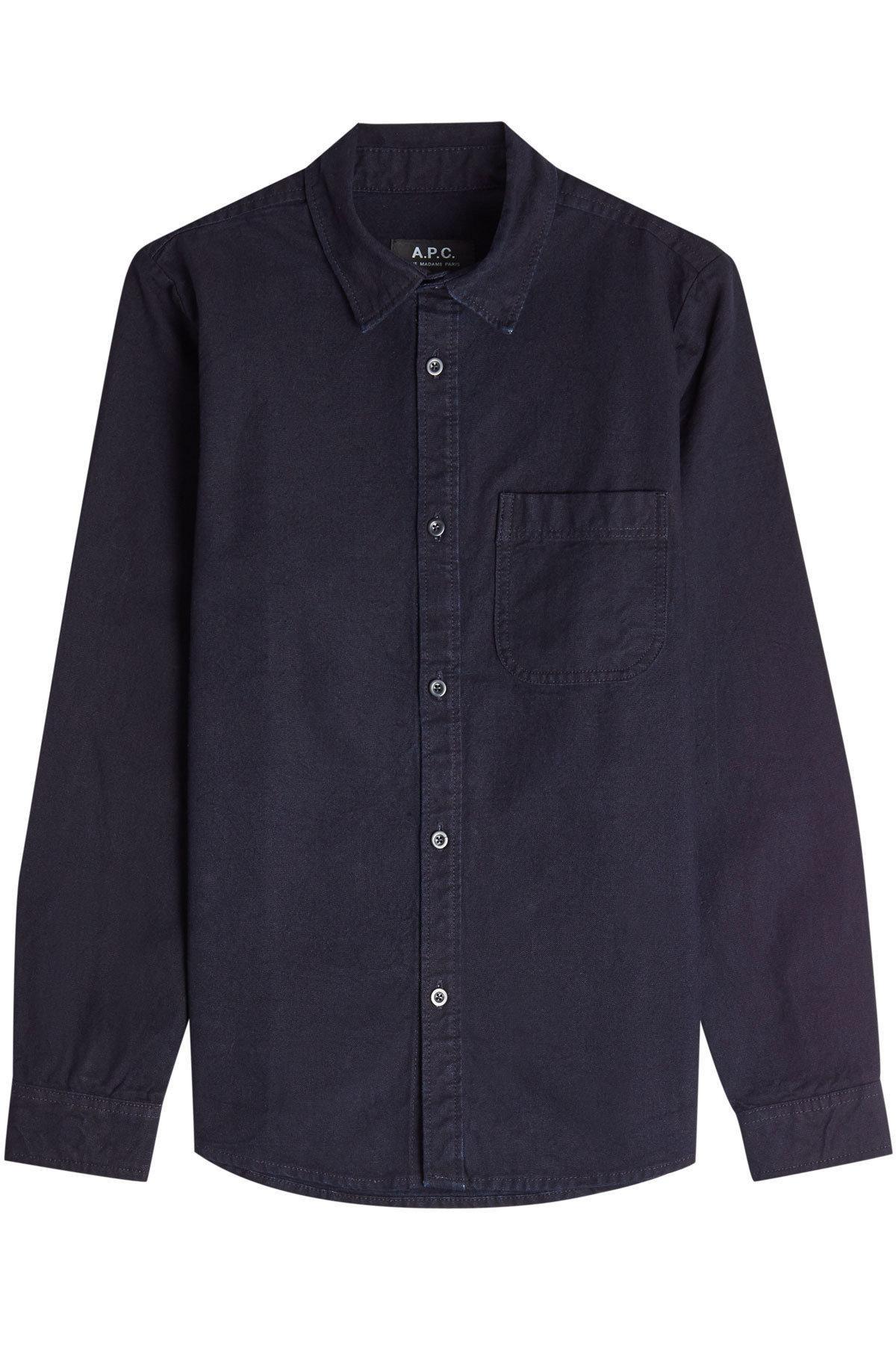 A.P.C. Cotton Shirt In Blue