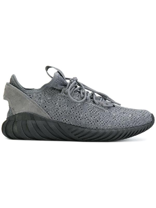 timeless design b359a 8b0d0 Tubular Doom Sock Primeknit Sneakers In Gray By3564 - Gray in Grey