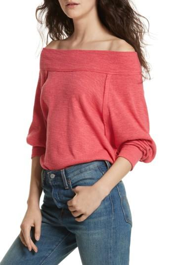 d04da294bbcf8a Free People Palisades Off The Shoulder Top In Red