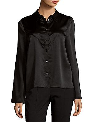 Equipment Selah Silk Top In True Black