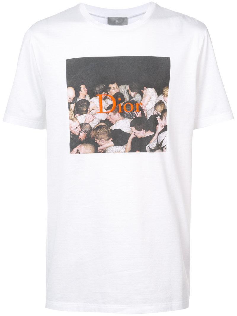 e582901b Dior Homme Dan Witz Print Embroidered T-Shirt In White | ModeSens