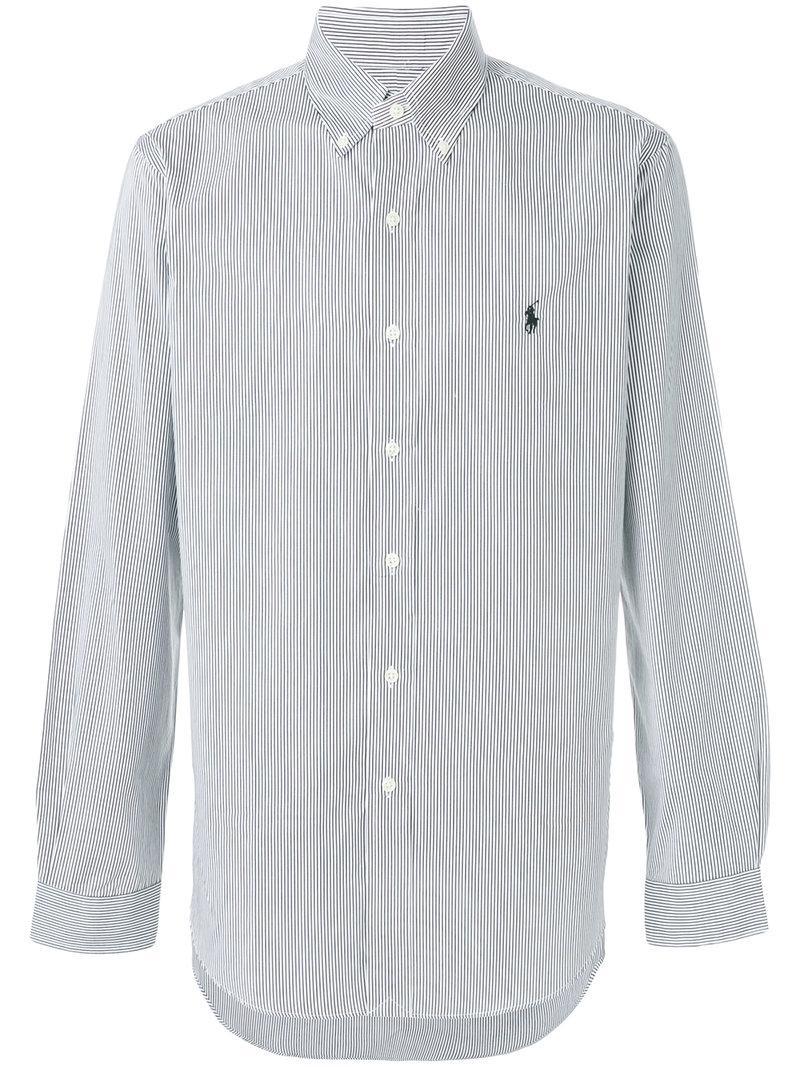 Ralph Black Dress Shirt Polo Lauren gf6yYb7