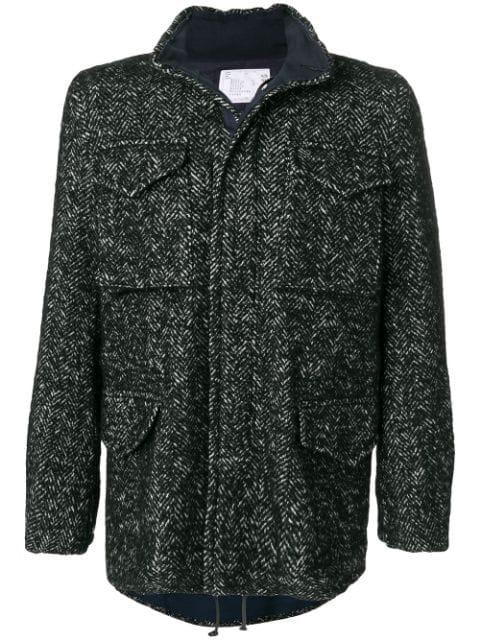 Sacai Pocket Detail Coat - Black