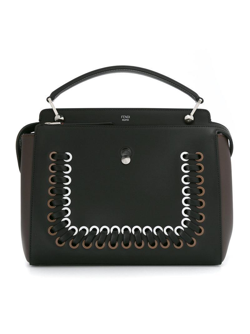 504609fc5967 Fendi Dotcom Tote Bag - Black