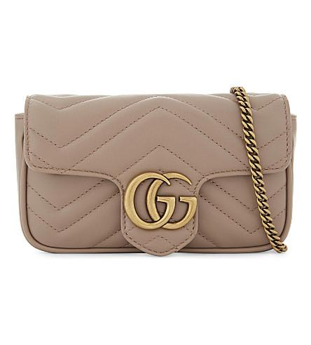 372e5f55d9bf Gucci Marmont Leather Cross-Body Bag In Porcelain Rose