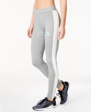 Puma Women's T7 Leggings, Grey In Medium Grey Heather
