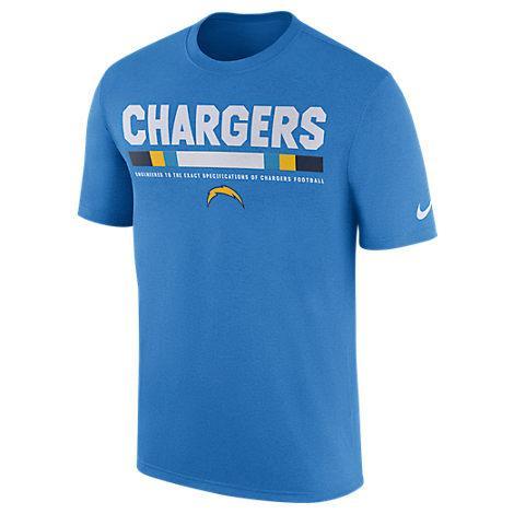 Nike Men's Los Angeles Chargers Nfl Legend Staff T-Shirt, Blue