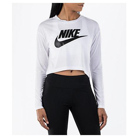 6c500ddb92390d Nike Women s Sportswear Essential Crop Long Sleeve Top
