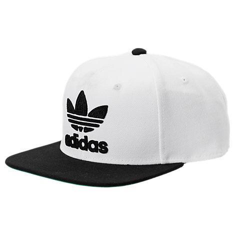 Men'S Originals Trefoil Chain Snapback Hat, White