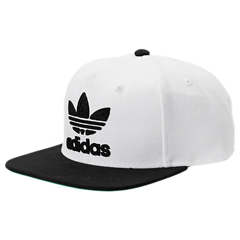 ADIDAS Men's Originals Trefoil Chain Snapback Hat White