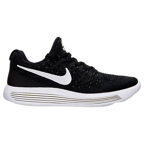 da4ebe680ed Nike Women s Lunarepic Low Flyknit 2 Running Sneakers From Finish Line In  Black  White