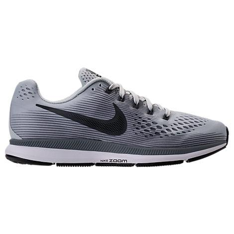 3591dde75ea Nike Men s Air Zoom Pegasus 34 Running Sneakers From Finish Line In Pure  Platinum Anthracite