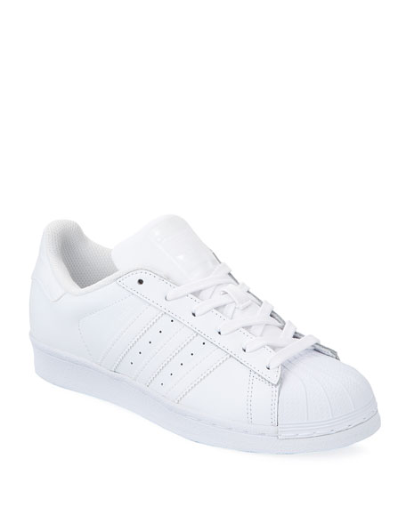 cheap for discount 34429 00265 Adidas Originals White Monochromatic Superstar Sneakers