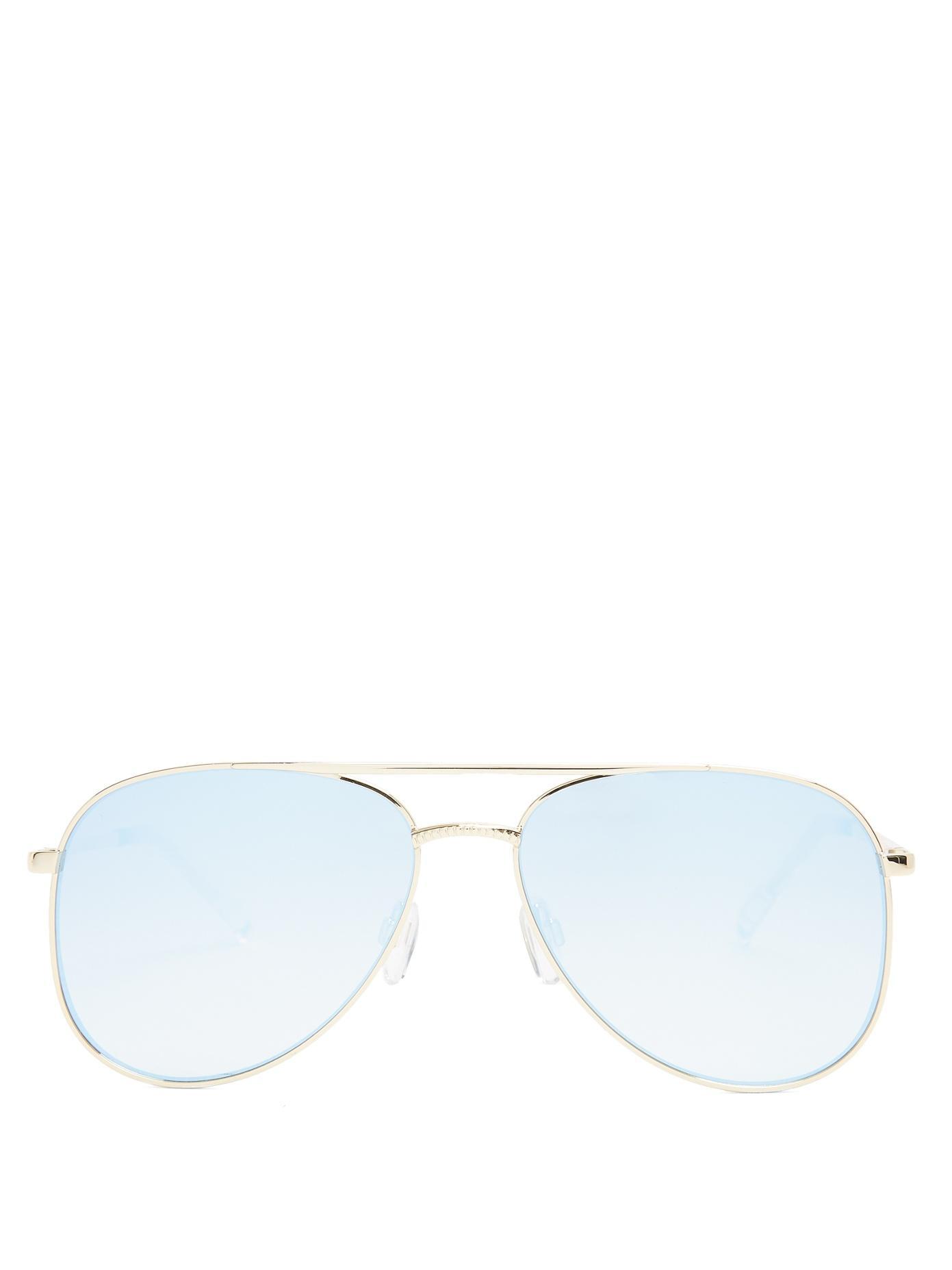 e920e0dca Le Specs Kingdom Aviator Sunglasses In Bright Gold/Blue Revo | ModeSens