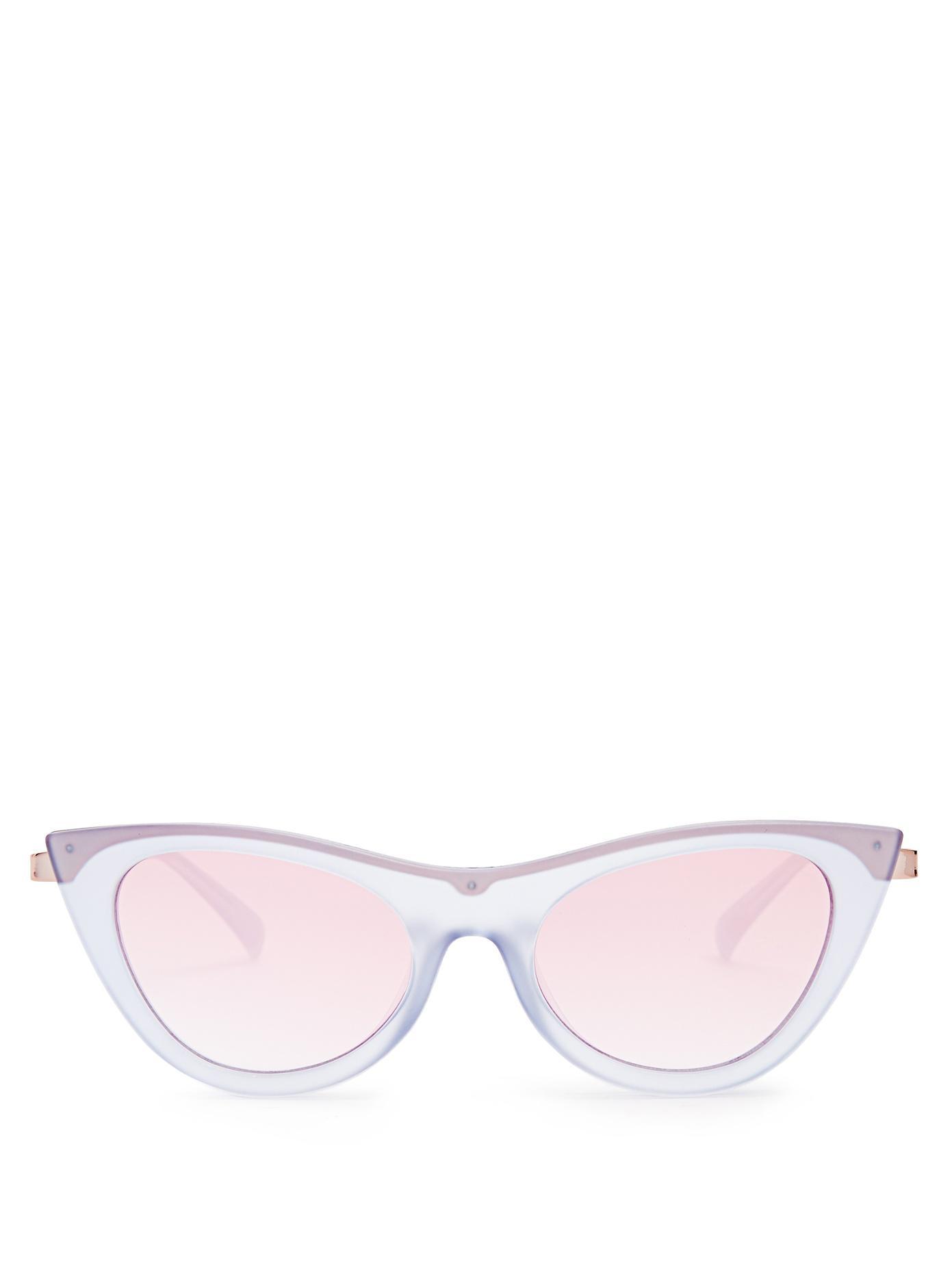 3ca49704b26d Le Specs Enchantress Cat-Eye Sunglasses In Blue
