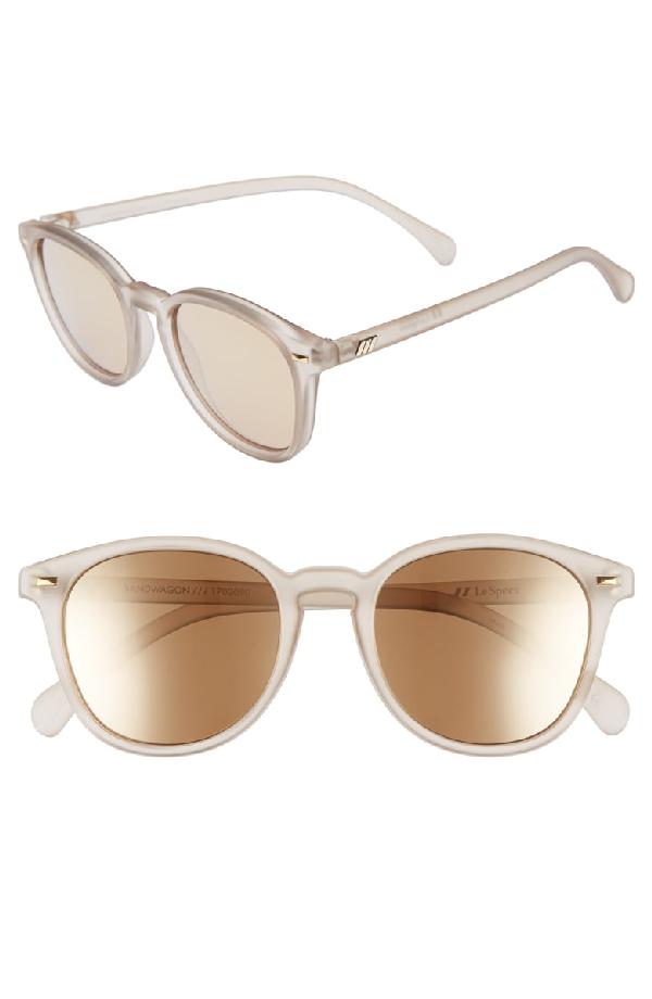 bcfa69d36e Le Specs Women s Bandwagon Mirrored Round Sunglasses