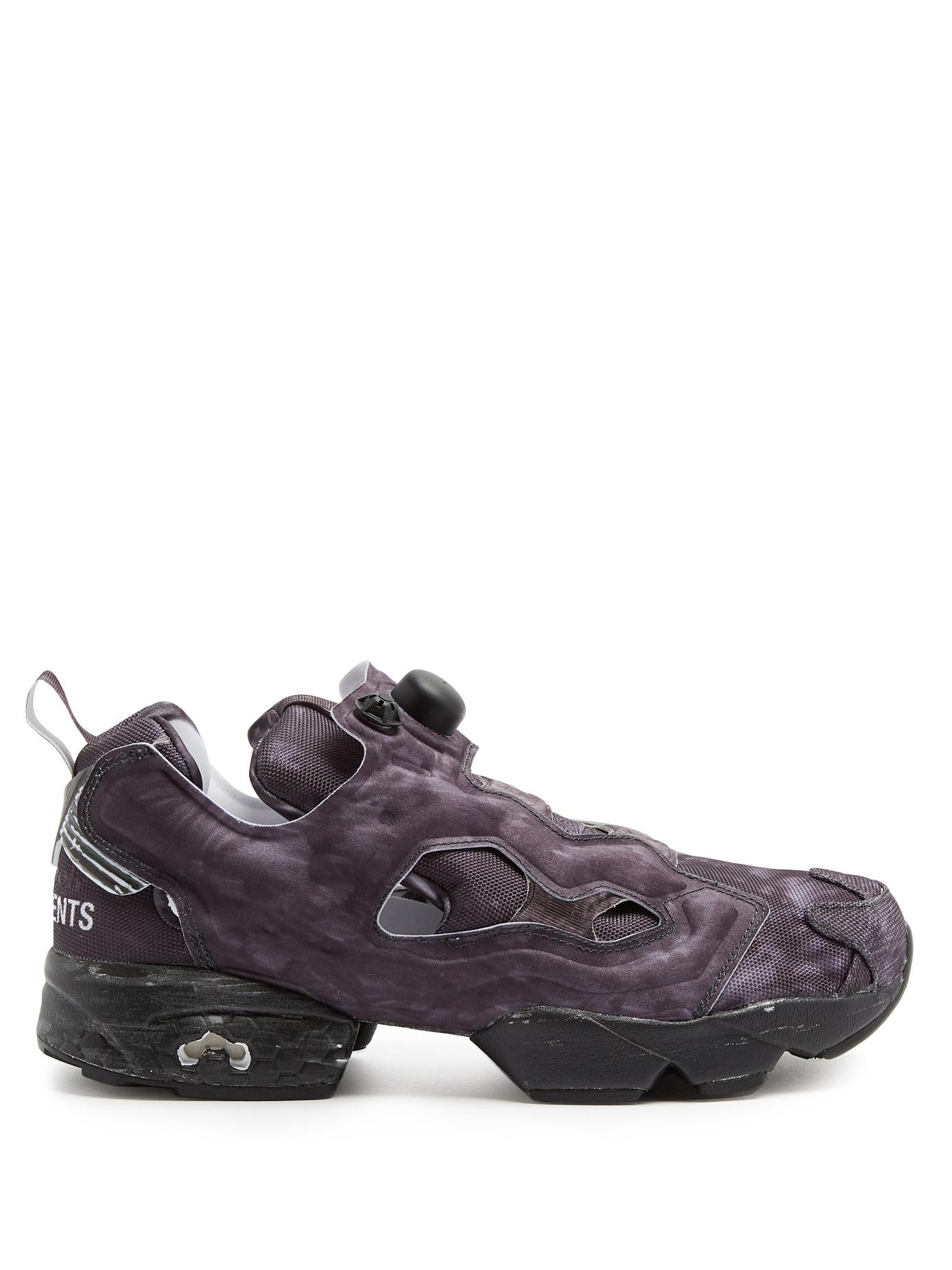 Vetements X Reebok Instapump Fury Canvas Trainers In Tonal-Grey ... 4d487b826