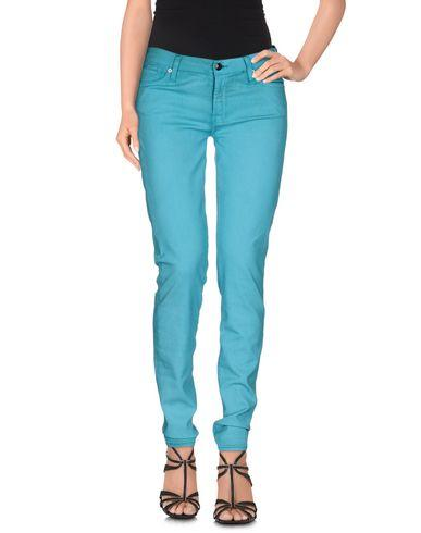 7 For All Mankind Denim Pants In Turquoise