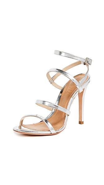f7ae64de7911 Schutz Ilara Strappy Sandals In Prata Spechio